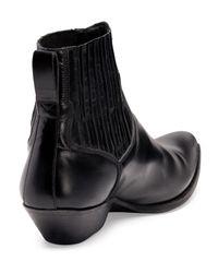 Saint Laurent - Black Low Cowboy Boot for Men - Lyst
