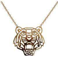 KENZO - Metallic Tiger Necklace - Lyst