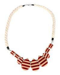 Stefanel - Red Necklace - Lyst