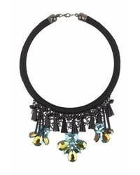 TOPSHOP - Blue Facet Flower Necklace - Lyst