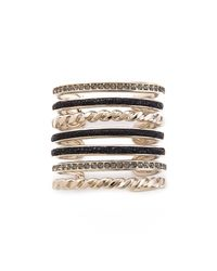 Nina Ricci | Multi Bracelet Cuff - Black | Lyst