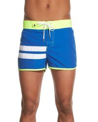 Andrew Christian - Blue 'harbor' Swim Shorts for Men - Lyst