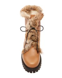 Pollini - Brown Rabbit Lined Boot - Lyst