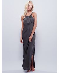 Free People - Gray Intimately Womens Simply Sensual Slip - Lyst
