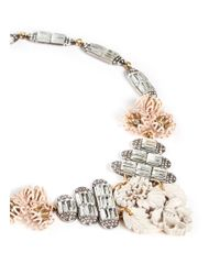 Lulu Frost | Pink 'Ingrid' Crystal Flower Necklace | Lyst