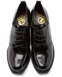 Opening Ceremony | Black Leather Grunge Oxfords | Lyst