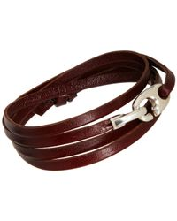 Miansai - Brown Bind Wrap Bracelet for Men - Lyst