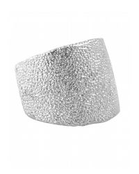 Karen Kane | Metallic Sandy Beach Band Ring | Lyst