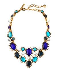 Oscar de la Renta - Blue Aqua Star Resin Bib Necklace - Lyst