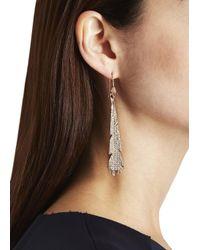 Eddie Borgo | Metallic Plume Rose Gold Plated Crystal Earrings | Lyst