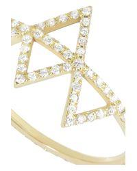 Lito - Metallic Izel 14-Karat Gold Diamond Ring - Lyst