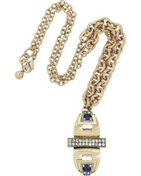 Lulu Frost - Metallic Solar Gold-Plated Crystal Necklace - Lyst