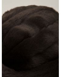 Harvey Faircloth - Brown Faux Fur Hat - Lyst