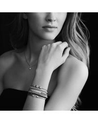 David Yurman - Petite Pavé Id Bracelet with Blue Sapphires - Lyst