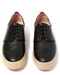 Oliver Spencer | Black Beat Leather Shoes for Men | Lyst