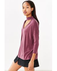 Silence + Noise | Purple Slice Of Heaven Mock-neck Top | Lyst