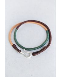Urban Outfitters - Green Three Shades Wrap Bracelet for Men - Lyst