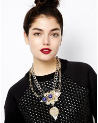 ASOS - Metallic Coin Constellation Necklace - Lyst