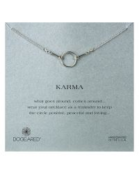 Dogeared - Metallic Sterling Silver Original Karma Necklace - Lyst