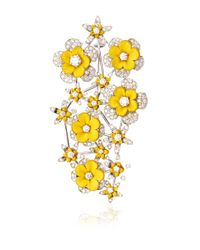 Wilfredo Rosado | Yellow 18k White Gold Diamond Brooch | Lyst