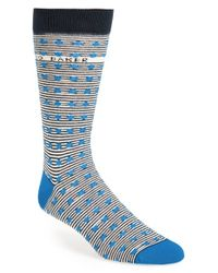 Ted Baker | Blue Stripe & Spot Socks for Men | Lyst