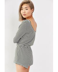 BDG - Green Striped Scoop-back Romper - Lyst