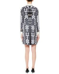 Peter Pilotto - Black Printed Silk Ace Shirtdress - Lyst