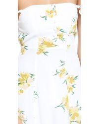 Flynn Skye - Multicolor Bardot Maxi Dress - Golden Poppy - Lyst