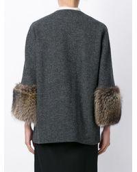 Marni - Gray Raccoon Cuff Coat - Lyst