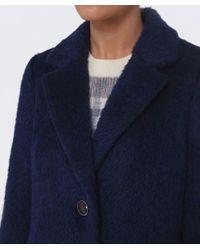 Creenstone Blue Estina Wool Coat