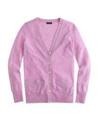 J.Crew   Purple Collection Cashmere Boyfriend Cardigan Sweater   Lyst