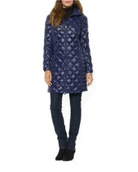 Lauren by Ralph Lauren   Blue Packable Down Walker Coat   Lyst