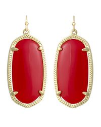 Kendra Scott | Metallic Danielle Earrings Red Magnesite | Lyst