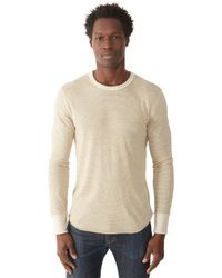Alternative Apparel | Natural Feeder Striped Eco-jersey Crew T-shirt for Men | Lyst