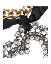 Lanvin | Metallic Crystalembellished Heart Necklace | Lyst