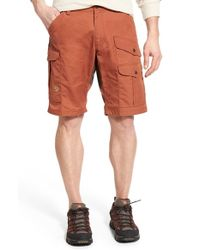 Fjallraven - Orange 'barents Pro' Cargo Shorts for Men - Lyst