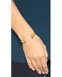 Lady Grey | Metallic Reflected Hand Cuff Bracelet - Gold | Lyst