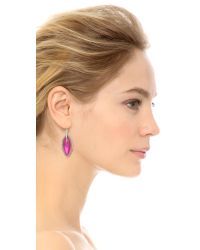 Alexis Bittar | Pink Crystal Embellished Pave Orbital Earrings  | Lyst