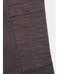 Violeta by Mango - Brown Pocket Slim Trousers - Lyst