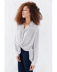 BDG | White Melanie Button-down Shirt | Lyst