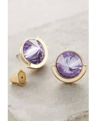 Sarah Magid - Purple Pointillist Studs - Lyst