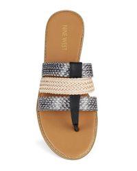 Nine West | Gray Karaka Sandals | Lyst