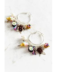 Venessa Arizaga | Multicolor Just Desserts Hoop Earring | Lyst