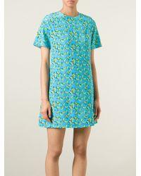 Markus Lupfer - Blue 'Bananas Billie' T-Shirt Dress - Lyst