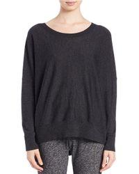 Eileen Fisher - Gray Petite Merino Wool Ballet-neck Sweater - Lyst