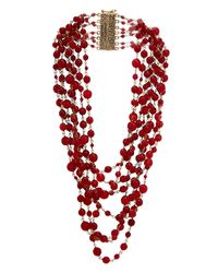 Rosantica By Michela Panero - Purple Pegaso Bead Strand Necklace - Lyst
