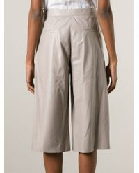 DROMe - Natural Leather Culottes - Lyst