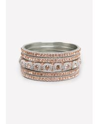 Bebe | Pink Crystal Bangle Set | Lyst