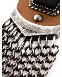 Saint Laurent - Metallic 'Lennon' Necklace for Men - Lyst