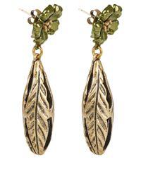 Lulu Frost - Green Bloom Pod Earrings - Lyst